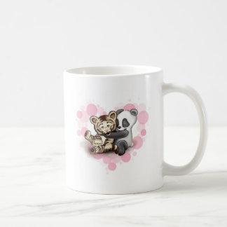 Tigre y panda taza de café