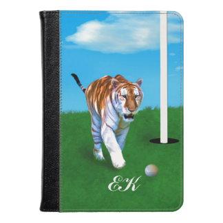 Tigre y pelota de golf de vagabundeo, monograma