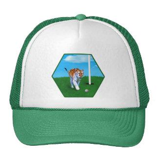Tigre y personalizable de vagabundeo de la pelota  gorras de camionero