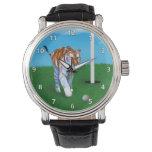 Tigre y personalizable de vagabundeo de la pelota relojes