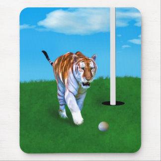 Tigre y personalizable de vagabundeo de la pelota  alfombrillas de ratón