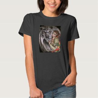 Tigre y princesa blancos T-Shirt Remeras