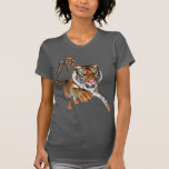 Tigre y símbolo chino camiseta