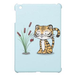 Tigre y una mariquita