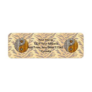 Tigre Yin Yang Etiquetas De Remite