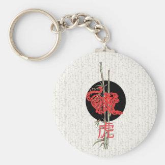 Tigre (zodiaco chino) llavero redondo tipo pin