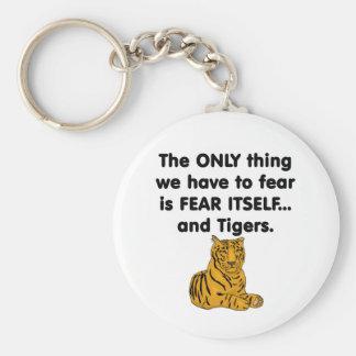 Tigres 1 del miedo sí mismo llavero redondo tipo pin