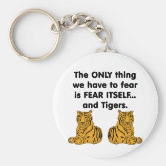Tigres 2 del miedo sí mismo llavero redondo tipo pin