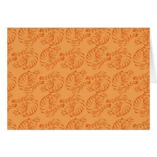 Tigres anaranjados tarjeta de felicitación