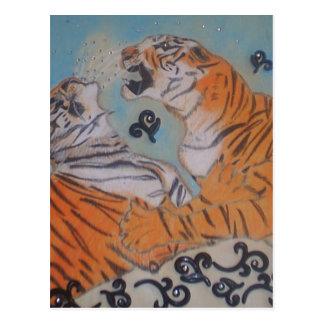 Tigres apasionados postales