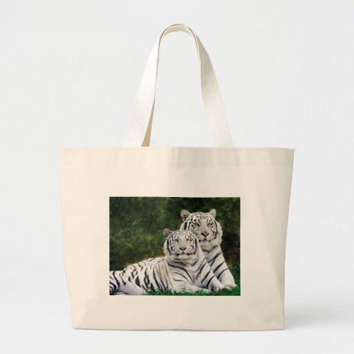 Tigres blancos bolsas de mano