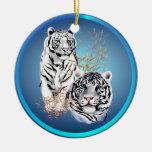 Tigres blancos - ornamentos ornamento de reyes magos