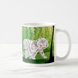 """Tigres blancos - """"protegido """" tazas"""