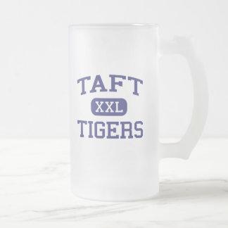 Tigres Brighton media Massachusetts de Taft Tazas De Café