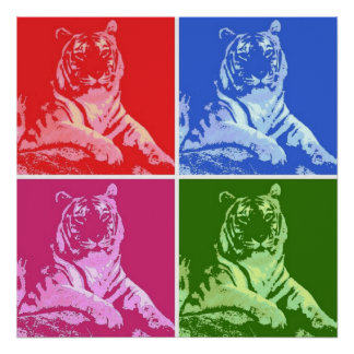 Tigres del arte pop posters