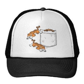 Tigres del bolsillo gorros bordados