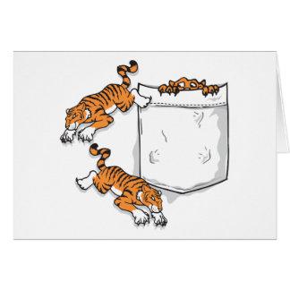 Tigres del bolsillo tarjeta de felicitación