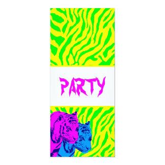 Tigres del gemelo del vintage del tigre 80s de invitacion personalizada