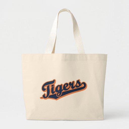 Tigres en colores de encargo bolsa