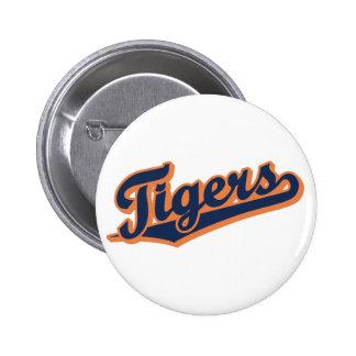 Tigres en colores de encargo pin