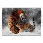 Tigres en nieve felicitacion