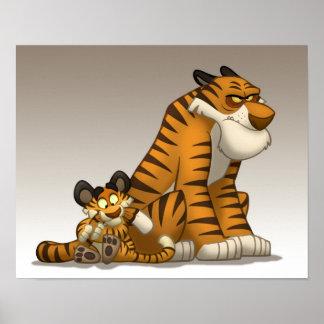 Tigres en un poster