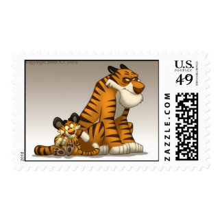 Tigres en un sello