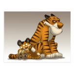 Tigres en una postal