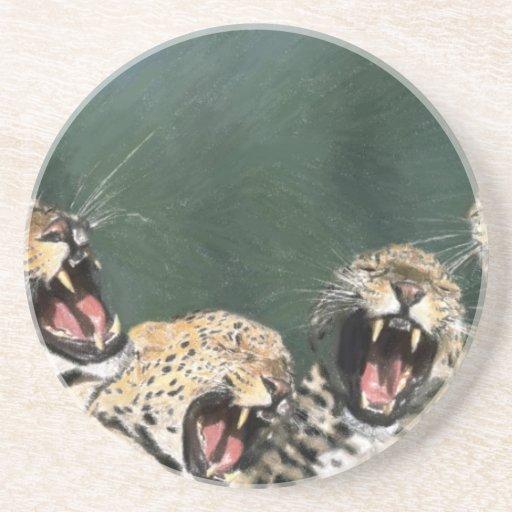 Tigres enojados posavasos cerveza