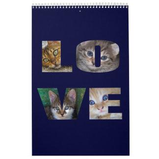 Tigres preciosos de la casa calendario