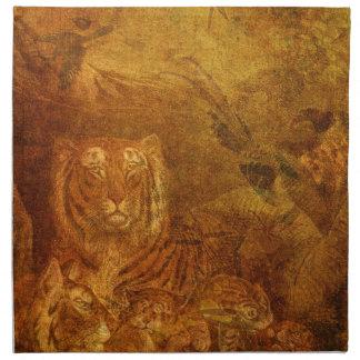 Tigres pulidos servilletas