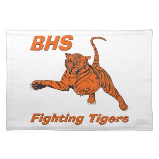 Tigres que luchan Placemats de BHS Mantel