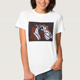 tigres que luchan playera