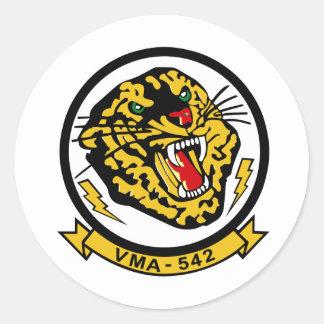 Tigres VMA-542 Pegatina Redonda