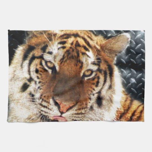 Tigres y diamantes toalla de cocina