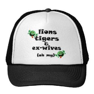 Tigres y exmujeres de los leones (oh mi) gorras de camionero