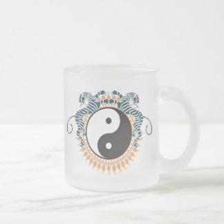 Tigres y Yin Yang Taza De Café