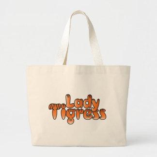 tigresa de la señora bolsa de mano