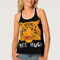 Tigress - Free Hugs Dark Tank Top