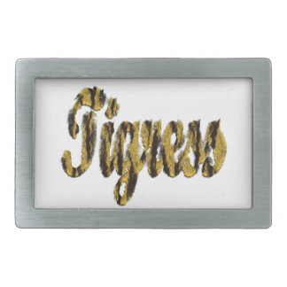 Tigress - Furry Text Belt Buckle