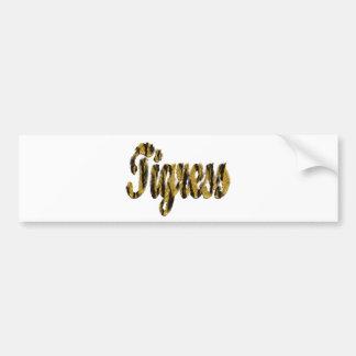 Tigress - Furry Text Car Bumper Sticker
