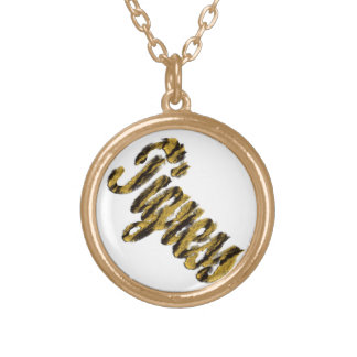 Tigress - Furry Text Gold Plated Necklace