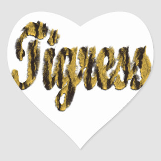 Tigress - Furry Text Heart Sticker