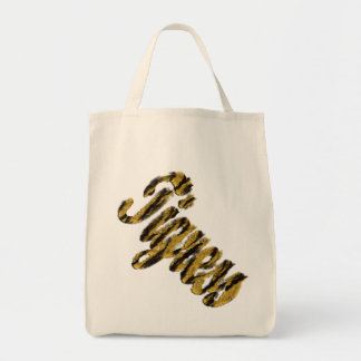 Tigress - Furry Text Tote Bag