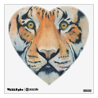 TIGRIS Oil Painted Tiger Heart Decal