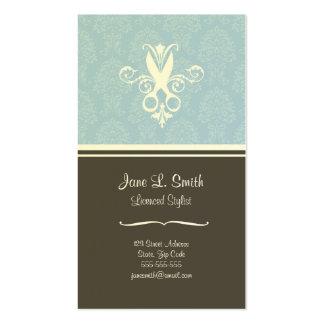 Tijeras azules de la tapicería tarjetas de visita