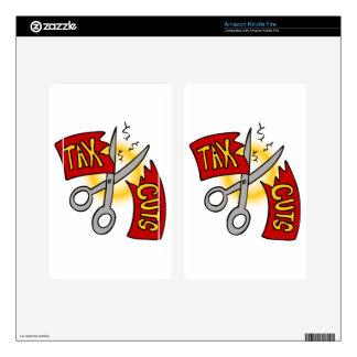 Tijeras de la cinta de las reducciones de kindle fire skins