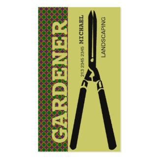 Tijeras de la jardinería ornamental para los tarjetas de visita
