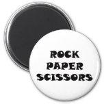 Tijeras de papel de la roca imanes