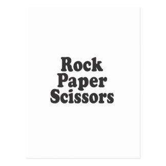 Tijeras de papel de la roca postales